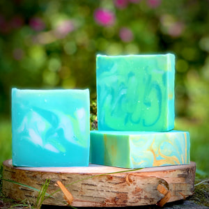 Green Irish Handmade All Natural Soap with Aloe and Kaolin Clay