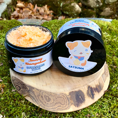 Satsuma Sudsy Sugar Scrub - All Natural Handmade Vegan with Avocado Oil