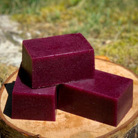 Blackberry Fizz Solid Sugar Bar Scrub - All Natural Handmade Vegan with Avocado Oil