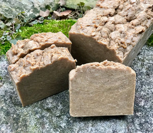 Old Fashioned Pine Tar Vegan Soap with Colloidal Oatmeal and Aloe Vera