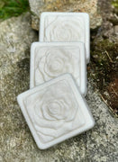 White Rose Handmade Triple Butter Vegan Soap with Kaolin Clay