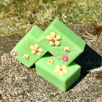 Cannabis Rose - Handmade All Natural Soap with Kaolin Clay and Aloe