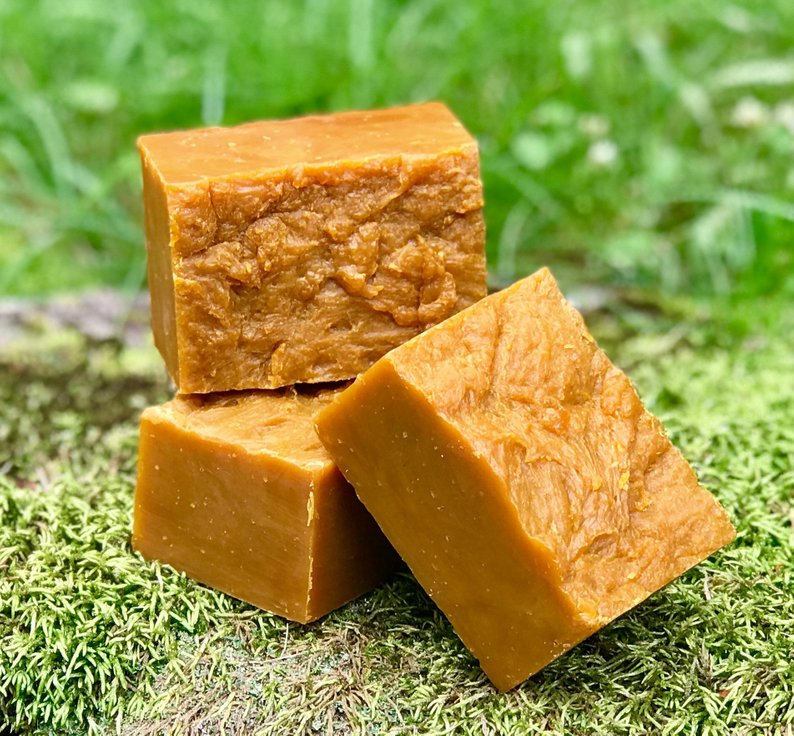 Cedarwood Carrot and Calendula - All Natural Handmade Soap - Ultimate Skin Soothing