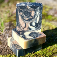 Cracklin Birch - Handmade All Natural Soap with Activated Charcoal and Walnut Powder