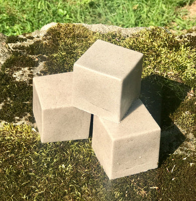 Mega 7 oz Creamy Coconut Pumice Soap Block Handmade Shea Butter Vegan Soap - Foot Soap - Kitchen Soap - Workshop Soap