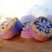 French Lavender Luffah Triple Butter Soap for Skin Brushing