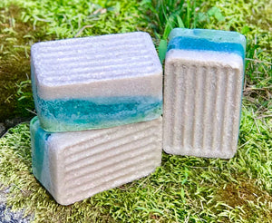 Palm Island Spa Bar - Handmade Soap with Kaolin Clay and Bottom Pumice Exfoliating Layer