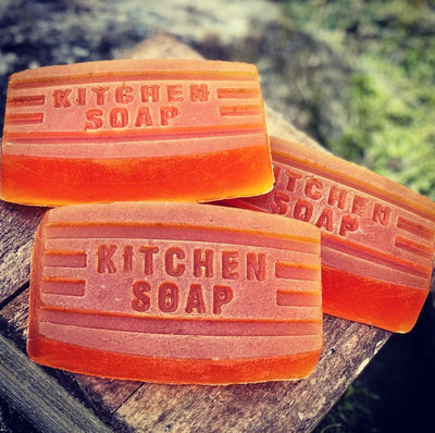 Kitchen Lemon Handmade Vegan Soap - Kitchen Soap - Odor Removing Soap