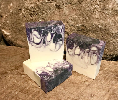 Lavender Anise Handmade All Natural Soap with Activated Charcoal and Aloe Vera
