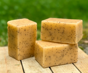 Mandarin and Bergamot Solid Sugar Bar Scrub - All Natural Handmade Vegan with Avocado Oil
