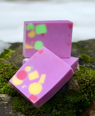 Rock Candy Handmade Triple Butter Vegan Soap -Cocoa, Mango and Shea Butter