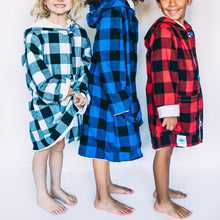 Blue Black Plaid - ROBE