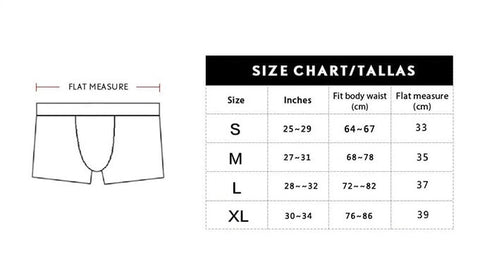 Underwear and Swimwear Size Chart egay