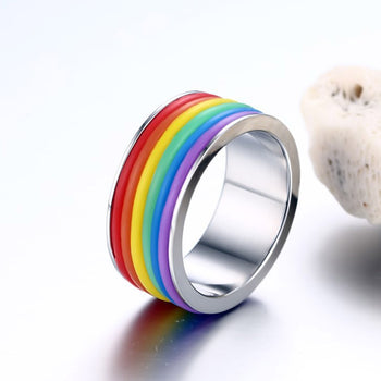 Gay Pride Flag Colors - Rainbow Ring