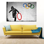 "Banksy x ""Olympic Rings"" - Supply Surf"