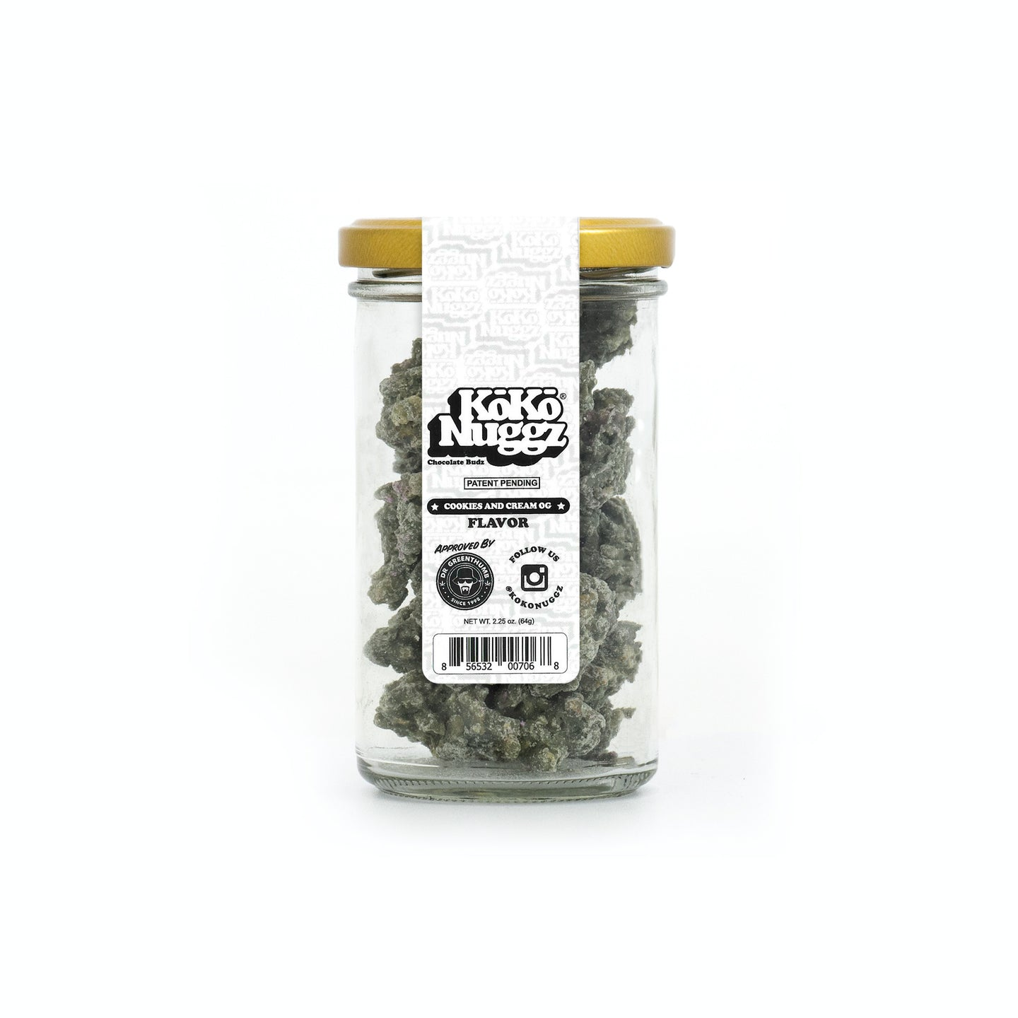 Cookies & Cream Flavour 2.25oz - Koko Nuggz Europe
