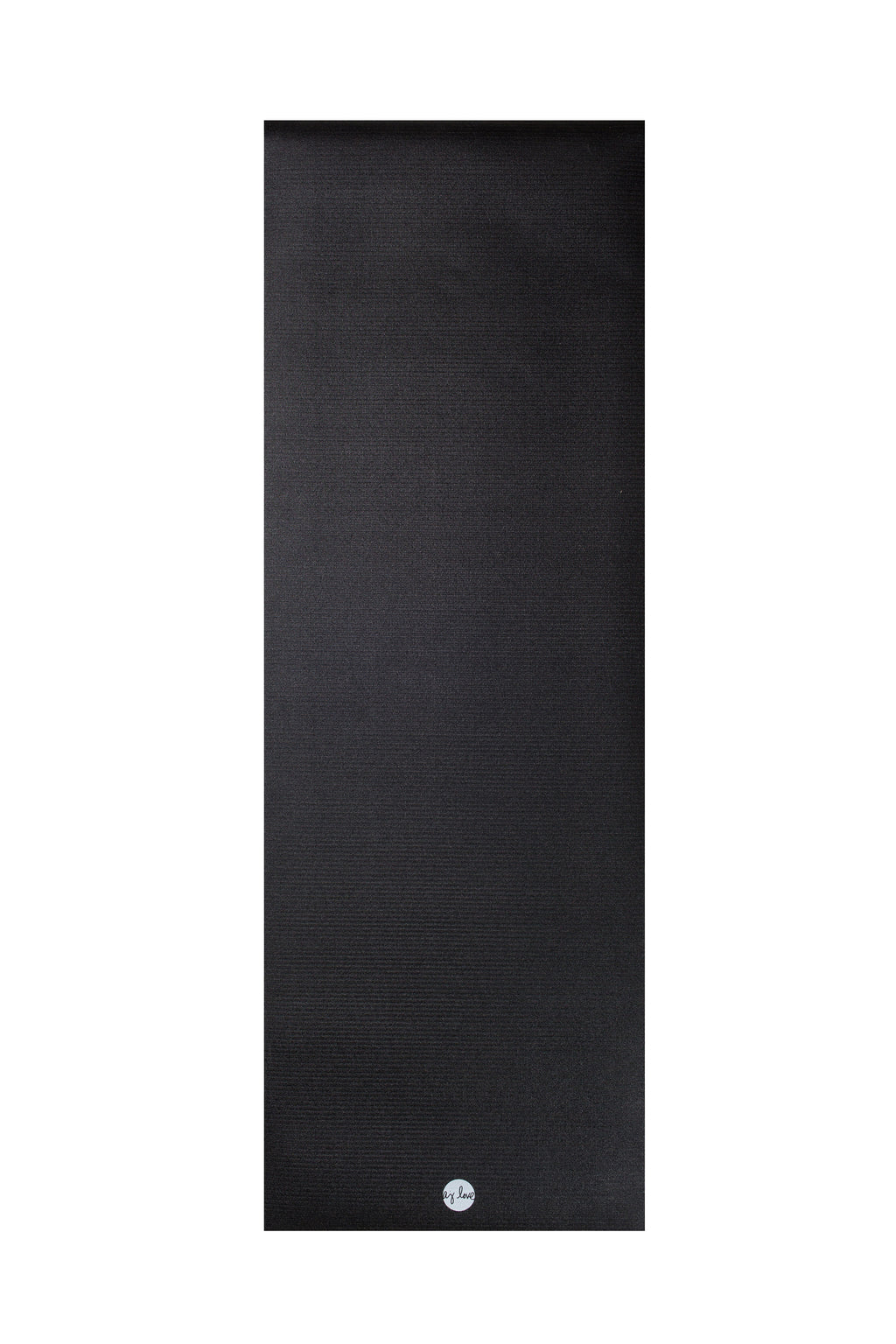 The Solid Black Yoga Mat