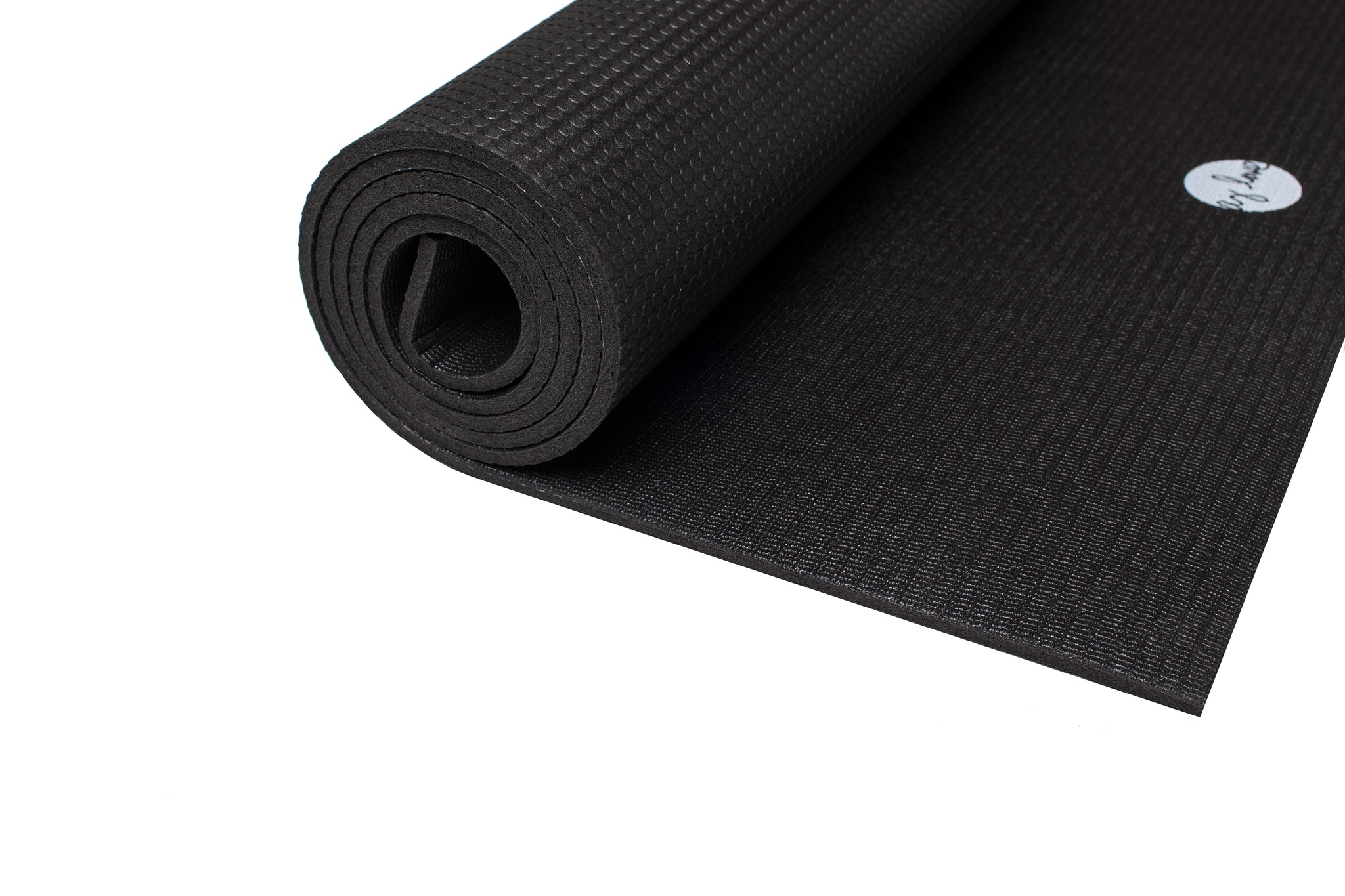 Solid Black Elite Yoga Mat