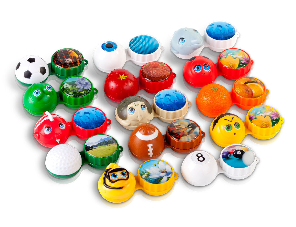 3D contact lenses case