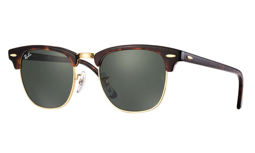 Clubmaster / Mock Tortoise-Gold / Crystal Green