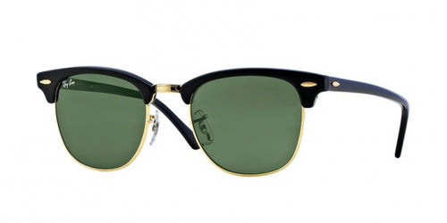Clubmaster / Black-Gold / Crystal Green