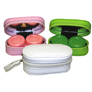 Leather contact lenses case