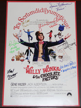 "12"" X 18"" WILLY WONKA POSTER - AUTOGRAPHED BY EIGHT"