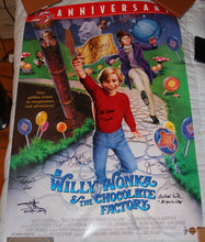 "27"" X 40"" WILLY WONKA POSTER - AUTOGRAPHED BY SIX!"