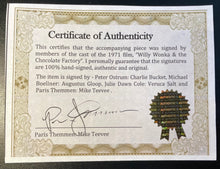WONKA'S GOLDEN TICKET - AUTOGRAPHED BY FOUR