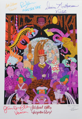 "14"" X 18"" DREW MORRISON WONKA PRINT - AUTOGRAPHED BY SIX"