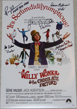"11"" X 17"" WILLY WONKA POSTER - AUTOGRAPHED BY FIVE"