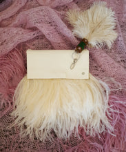 Ostrich Feather and Suede Tiffany Bag