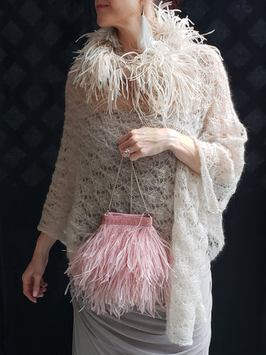 Molly Feather Handbag