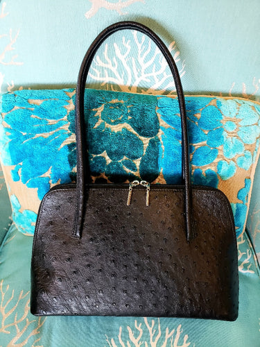 Ostrich Leather Handbag Wilma