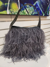 Shayleen Ostrich Feather & Shin Leather Handbag
