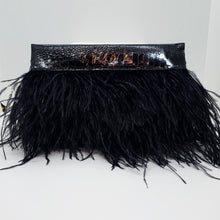Ostrich Feather Clutch