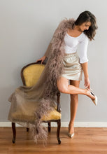 Mohair Lace SHAWL with Ostrich Feathers