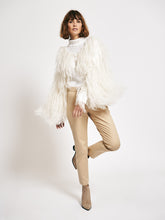 Mohair Allover Fringed Shrug