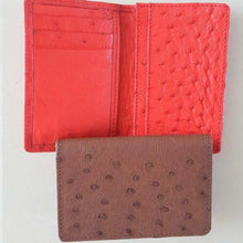 Ostrich Leather Business Card Holder