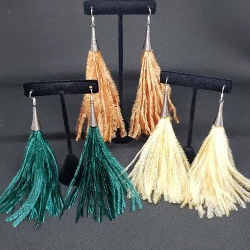 Ostrich Feather Earrings