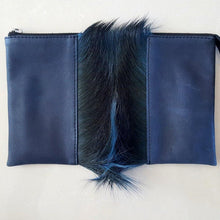 Luche Leather Clutch with Springbok Hide