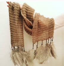Lynx Ostrich Feather & Bead MOHAIR Scarf