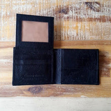 Ostrich Leather Billfold Pull Out