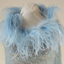 Mohair Lace Poncho with Ostrich Feathers