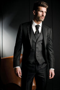 Gender: Men Item Type: Suits Front Style: Flat Material: Silk,Cotton,Wool Pant Closure Type: Zipper Fly Closure Type: Single Breasted Fit Type: Straight Model Number: AA Clothing Length: Regular