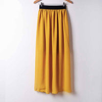 Sexy Long Chiffon Skirt