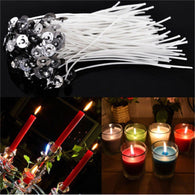 Product: General Candle Model Number: 30 x Candles Wicks Use: Parties Handmade: Yes Type: / Material: Cotton + Alloy Feature: / Shape: / Unit Type: lot (30 pieces/lot) Package Weight: 0.03kg (0.07lb.) Package Size: 1cm x 1cm x 1cm (0.39in x 0.39in x 0.39in)