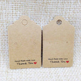 New White/Kraft HandMade Jewerly Tags