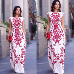 Elegant Floral Embroidery Dress