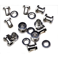 2pcs Stainless Steel Screw Tunnel Stretcher